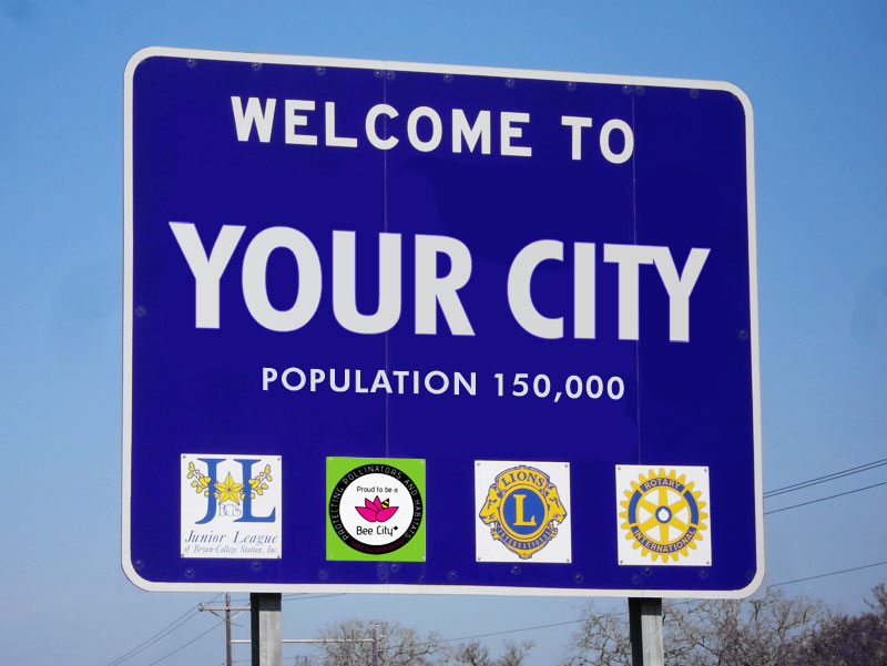 Bee City Sign