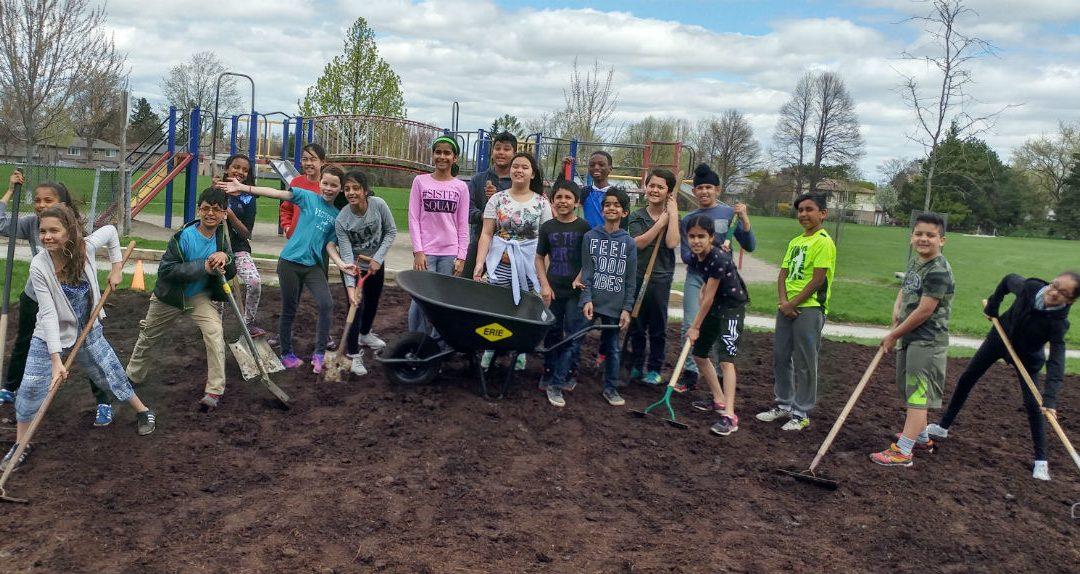 Bee City School Garden Project Breaks Ground