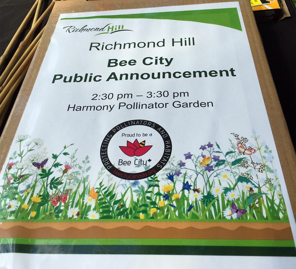 Richmond Hill Announcement